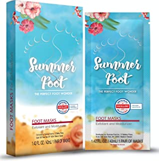 Summer Foot Premium Foot Mask for Baby Soft Feet | Exfoliating Foot Peel & Callus Remover for Feet - Repair rough heels with 1 pair for one-time treatment | Tested in Germany Best Results