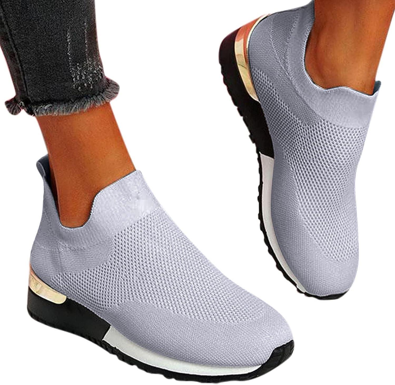Walking Shoes for Women Slip On,Women Sneaker Slip-on Mesh Breat