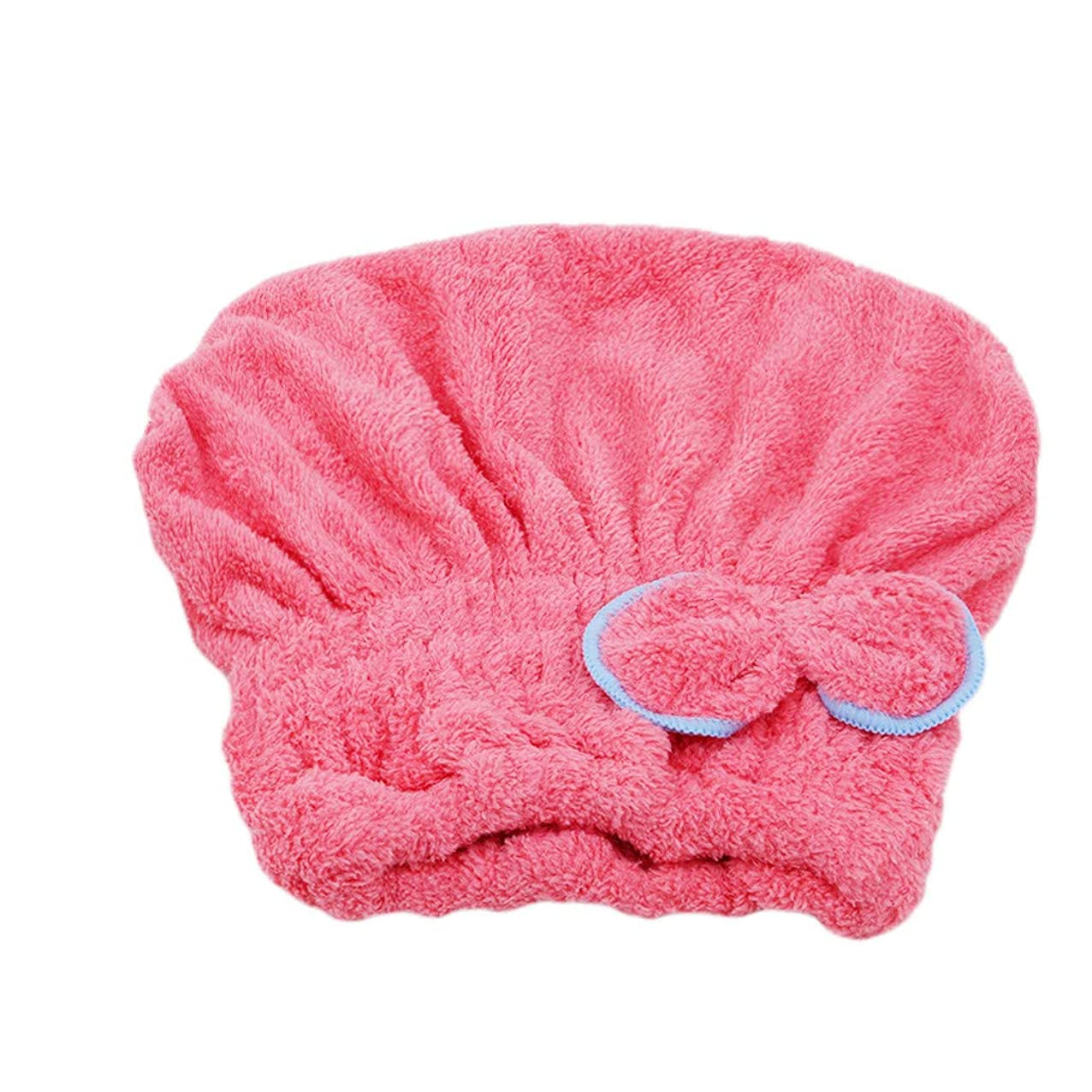 第九発行するショッキングMARUIKAO タオルキャップ 吸水 速乾 髪タオル 軽量 防滑 かわいい ヘアドライタオル シャワーキャップ コーラルフリース スイカレッド