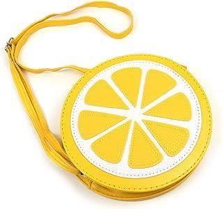 Framendino, Lemon Fruit Shaped Crossbody Bag Purse with Shoulder Strap for Women Girls