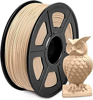 Wood Filament PLA 1.75mm, SUNLU Wood PLA Filament Imprimante 3D, Basse Impression Température, Précision Dimensionnelle +/...