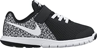 New Nike Girl's Flex Experience 5 Print Athletic Shoe Black/White 3