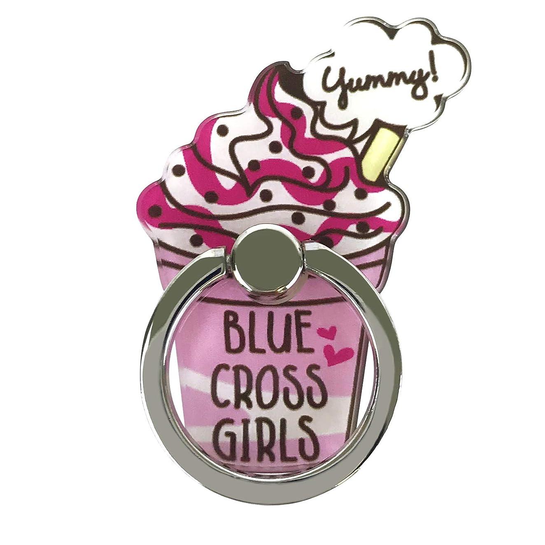 困惑絶対の咲くBLUE CROSS girls 「アクリルダイカットスマホリング」 バンカーリング ブルークロスガールズ かわいい スマホアクセサリ 落下防止