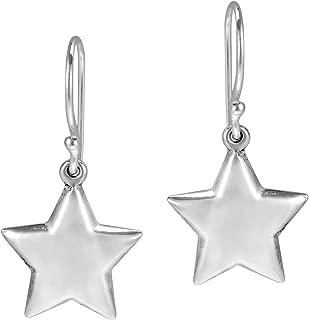 Lucky Twinkle Stars .925 Sterling Silver Dangle Puff Earrings