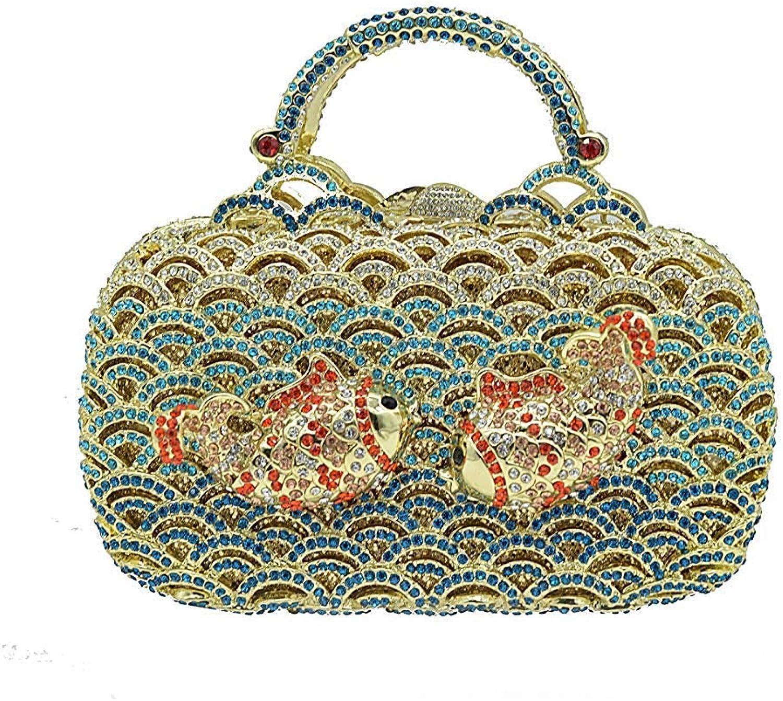 Damenhandtasche Damenhandtasche Damenhandtasche Luxury Fashion Diamond Abendtasche für Frauen (Farbe   Blau, Größe   19  11  7cm) B07PLTDRMT b1d2cb