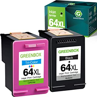 GREENBOX Remanufactured 64 Ink Cartridge Replacement for HP 64XL for HP Envy Photo 7155 7855 6255 7120 6252 6220 6230 6258...