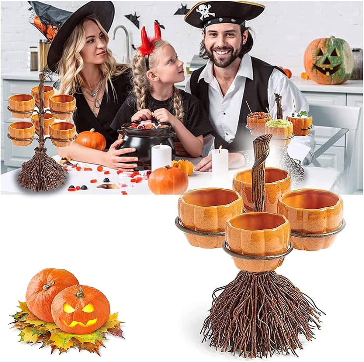 Lifekisser Halloween Witch Hat Shelf Bowl Safety and trust Deluxe Snack Broomstick