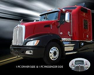 Fedar Chrome Door Mirror Cover Left Driver Right Passenger Pair for Kenworth T660 T600