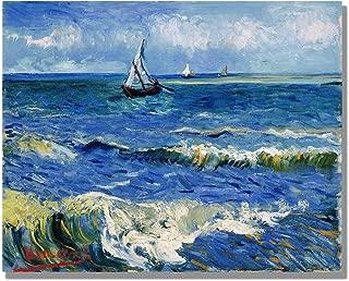 Eliteart-The Sea at Saintes Maries De La Mer by Vincent Van Gogh Oil Painting Reproduction Giclee Wall Art Canvas Prints