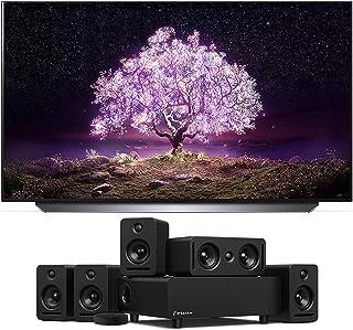 "LG OLED77C1PUB 77"" 4K Ultra High Definition OLED Smart C1 Series TV with a Platin Audio MONACO-5-1-AXIIM-LINK 5.1 Sound Sy..."
