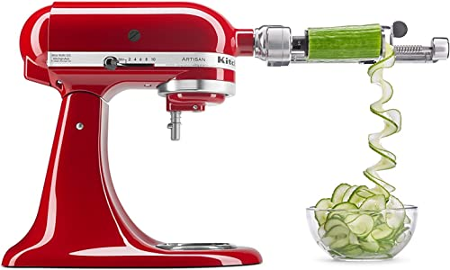 discount KitchenAid popular Spiralizer Plus Attachment with Peel, Core online and Slice, Silver online