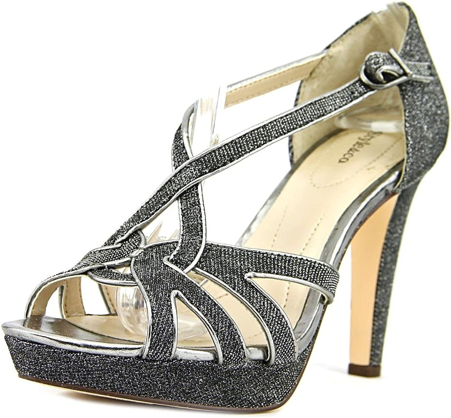 Style & Co. Women's Selinaa Synthetic Strappy Dress Sandals, Pewter, Size 9.5