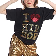 Just For Kix Sequin I Love Hip Hop Dance T-Shirt