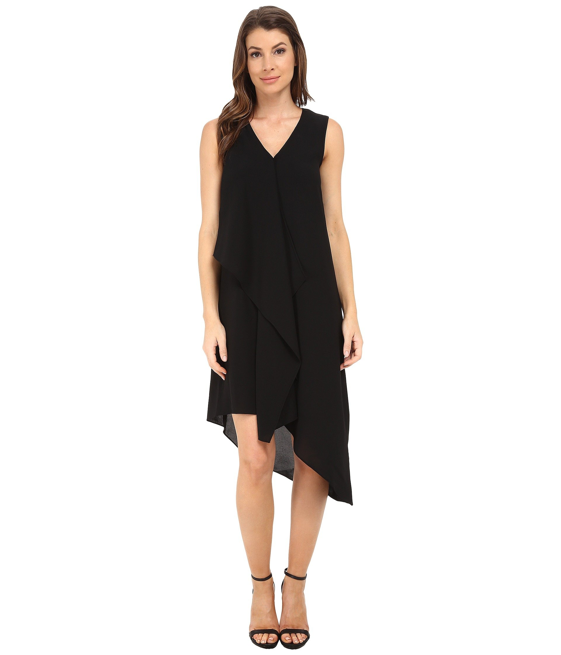 Vestido para Mujer Adrianna Papell Asymmetrical Front Drape Dress  + Adrianna Papell en VeoyCompro.net