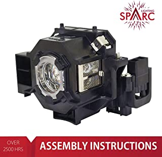 SpArc Lighting for Epson ELPLP42 / V13H010L42 Projector Lamp with Enclosure fits 83+ 83C 410W 400W 822P 822+ EB-400WE EMP-400WE 410W 822H 83H EX90