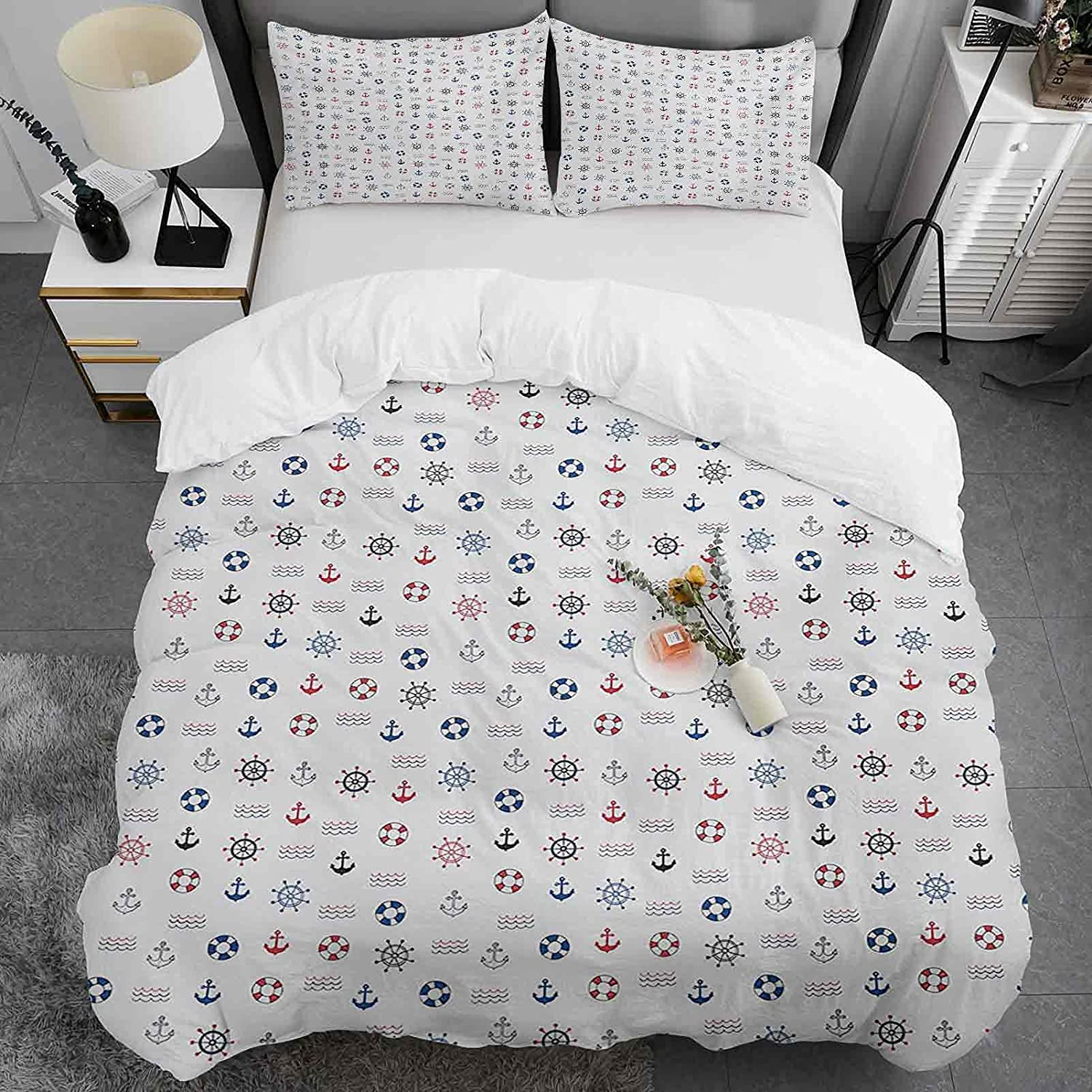 l Reservation Duvet Cover Full Selling Size Ancho Lifebuoy Featured Marine Elements