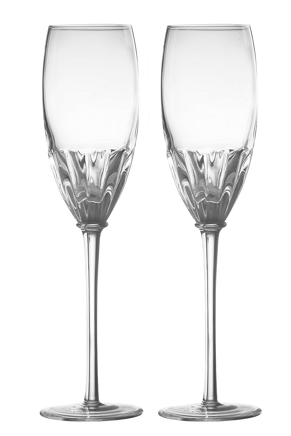 意味する不定きゅうりDRH Anton Studios Solar Set of 2 Champagne Glasses Flutes in Clear ASD10183