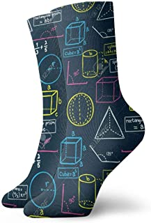 Guitar Instrument Unisex Casual Crew Socks Athletic Stockings Funny Designed 50cm Clothing Accessories 19.6 inch