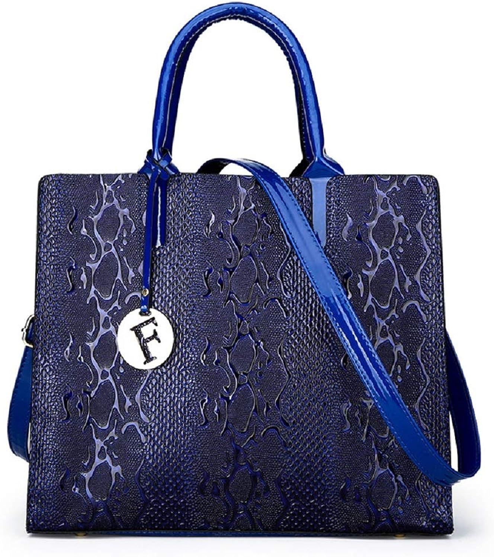 HhGold Schlange Textur Textur Textur Dame Handtasche Umhängetasche Damen Schultertasche Henkeltasche (Farbe   Blau) B07H3L1NDV  Neues Produkt 39aa0a