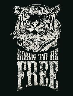 JP لندن pmur2429ustrip قش ّ ر ْ والصق ْ قابلة للإزالة ملصق حائط من الفينيل ملصق جداري ، خال ٍ من Born Wild نمر Roar Retai...