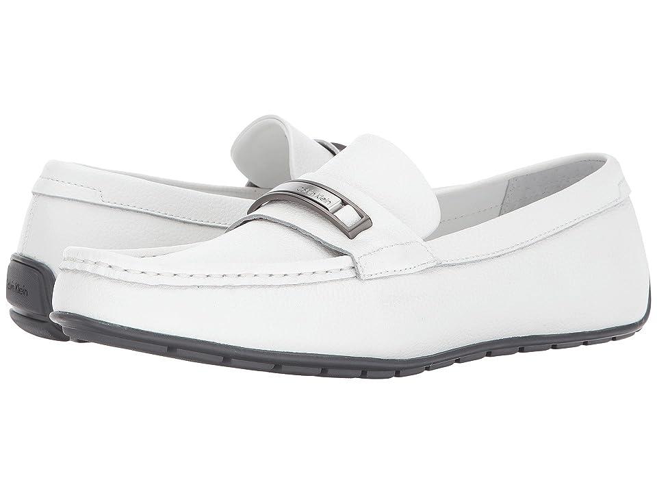 Calvin Klein Irving (White Tumbled Leather) Men