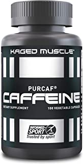 Kaged Muscle, PurCaf Organic Caffeine Capsules, Energy Boost, No Jitters, 90% Pure Caffeine, 100 Caffeine Pills