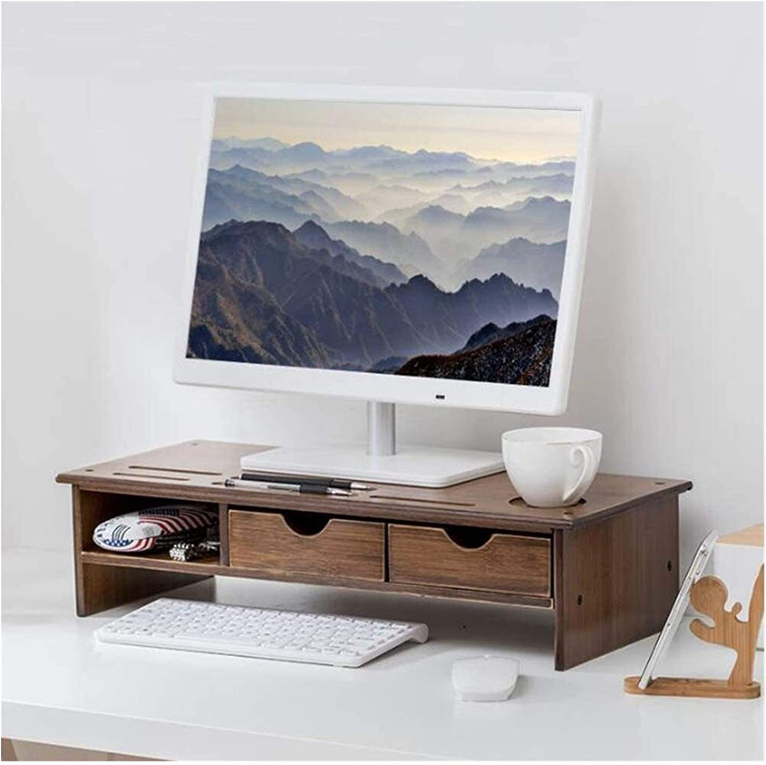 ZhanMa Monitor Store Risers Computer Stand Popular E Riser with Drawer