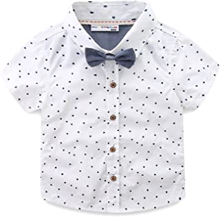 Little Boys Shirt and Tie Set Cute Stars