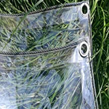 Glas helder zeildoek waterdicht, zeildoek Transparant waterdicht PVC-plastic zeildoek met oogjes, bloem Plant Sheet Covers...