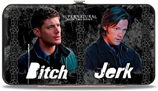 Supernatural Bitch/Jerk Hinged Wallet
