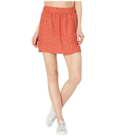 Toad&Co Hillrose Skirt (Salmon Coral Fern Print) Women