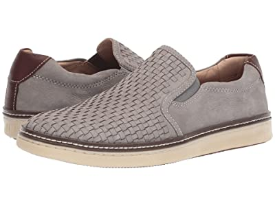 Johnston & Murphy McGuffey Woven Casual Slip-On Sneaker (Light Gray Tumbled Nubuck) Men