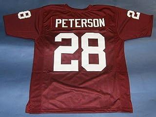 Amazon.com: ADRIAN PETERSON MAROON OKLAHOMA CUSTOM STITCHED NEW ...