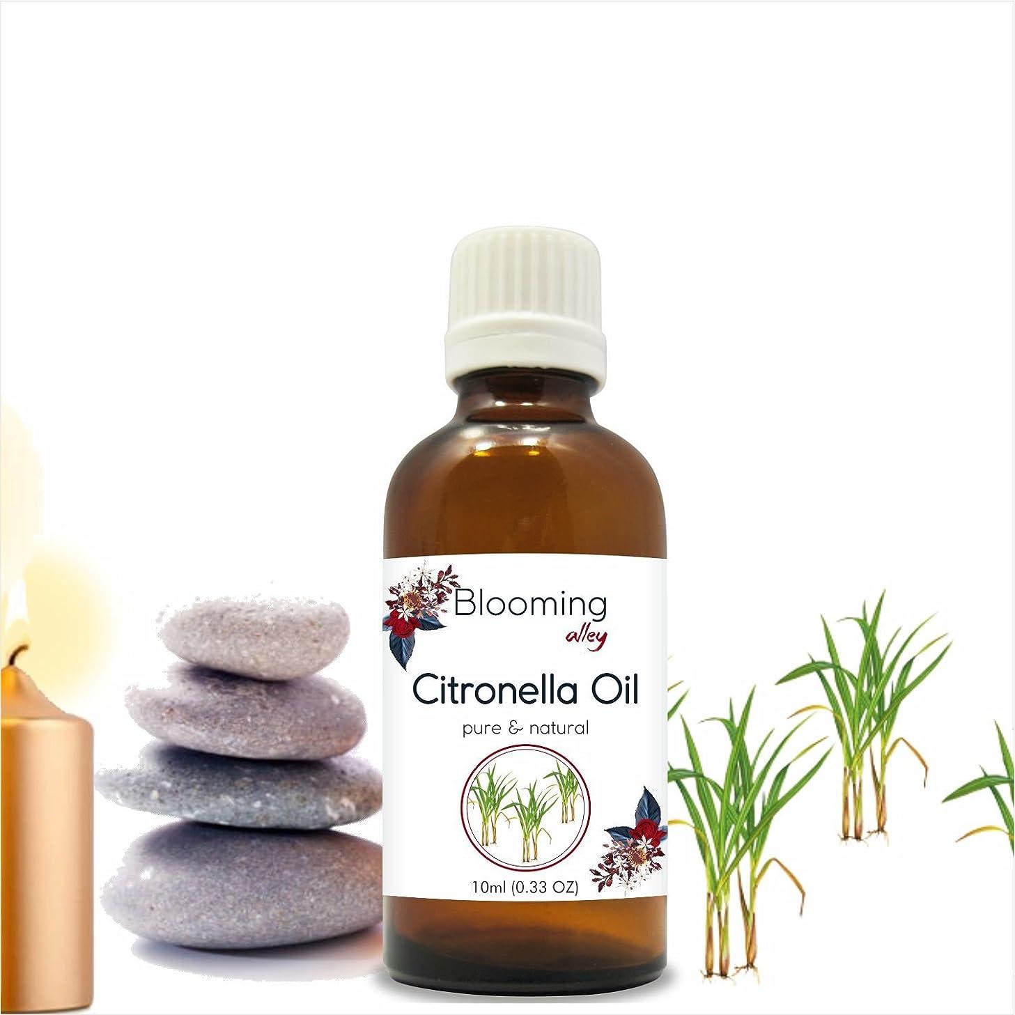 夜間排除する志すCitronella Oil (Cymbopogon Nardus) Essential Oil 10 ml or 0.33 Fl Oz by Blooming Alley