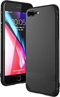 Funda iPhone 8 Plus Funda iPhone 7 Plus Kingriz Carcasa Ligera Bumper Silicona Suave TPU Anti-Arañazos Anti-Golpes Protección de 360 Grados Caso Cover Case para iphone 7 Plus / 8 Plus - 5.5 (Negro)