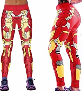 Ironman Suit Up Yoga Pants One Size Fits Most Novelty Leggings