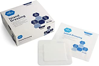 "Medpride 6"" x 6"" Bordered Gauze-Island Dressing