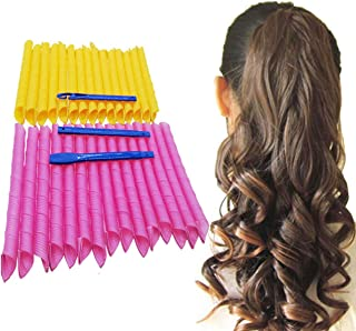 """Orgrimmar Magic Hair Curlers Curls Styling Kit, DIY No Heat Hair Curlers for Extra Long Hair up to 22"""" (55 cm) (30PCS 55c..."""