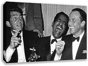 The Rat Pack Frank Sinatra Dean Martin Sammy Davis JR Canvas Wall Art (44