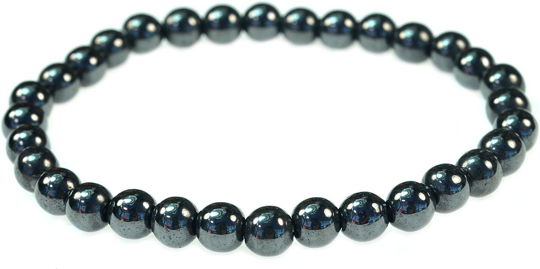 Magnetic Hematite Round Bead - 7.5