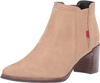 Women's Leather Block Heel with Elastic Detail Amsterdam...