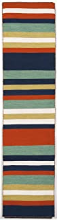Liora Manne Sorrento 6301/33 Tribeca Navy Area Rug 24 Inches X 8 Feet