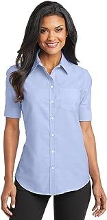 L659 Women's Short Sleeve SuperPro Oxford Shirt