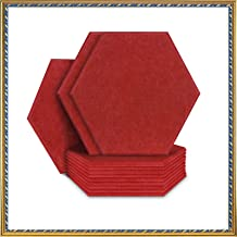 """Acoustic Panels Sound Dampening Panels Hexagon, 12 Pack Sound Proof Padding Soundproofing Absorption Panel, 14"""" x 13"""" x 0...."""