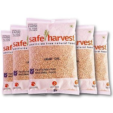 Safe Harvest Pesticide-Free Urad Dal Pack of 5 (500 g Each)