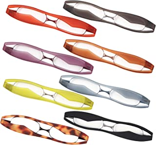 新型 POD READER SMART 老眼鏡 携帯用 見やすく楽に掛けられる 超軽量・薄型タイプ ケース付で傷付も安心[PrePiar](パープル +1.0)
