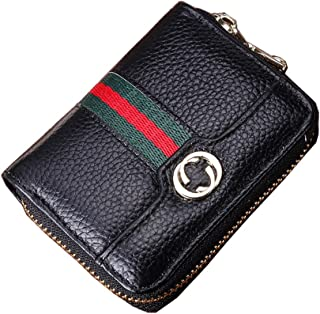 Women Men RFID Blocking Credit Card Holder Cards Case Wallet Leather Protector (Coffee)