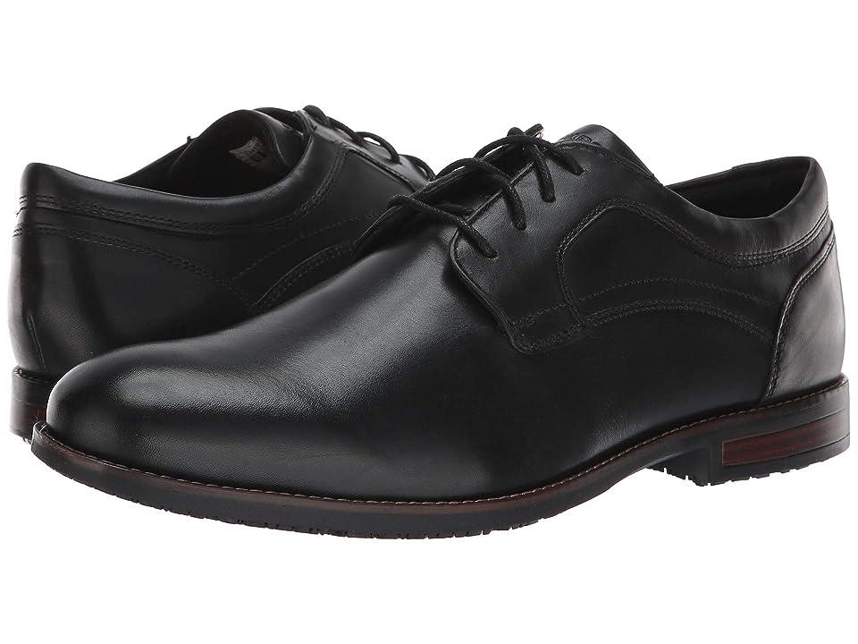 Rockport Dustyn Waterproof Plain Toe (Black) Men