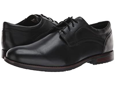 Rockport Dustyn Waterproof Plain Toe (Black) Men