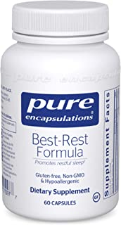 Pure Encapsulations - Best-Rest Formula - Hypoallergenic Supplement for Restful Sleep - 60 Capsules
